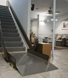 Inclined Platform Wheelchair Lifts - an interesting home modification idea.