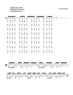 Drum Sheet Music, Drums Sheet, Drum Lessons, Music Lessons, Drum Rudiments, Drum Notes, Learn Drums, Video Sh, Snare Drum