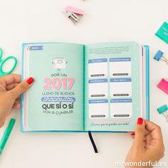 mrwonderful_8435460706612_WOA03572ES_AGENDA_BSV-ES-26-Editar Planners, Magazines For Kids, Baby Album, Bullet Journal Inspo, Doula, Cricut, Notebook, Layout, Feelings