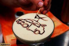 Latte art turbo car