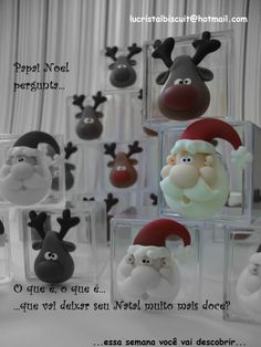 Picture only - Cute Santa and Reindeer