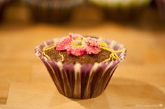 Cupcakes primaverili, with sugar flowers