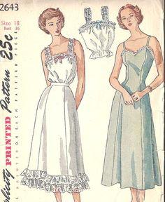 """1940' Simplicity Pattern 2643 Copyright 1948 bust 36"""", waist 30"""", hips 39"""""""
