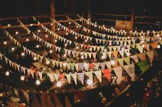 Bunting and rafters - Ceiling decoration inspiration
