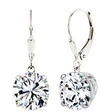 Solid Sterling Silver Swarovski Elements Crystal Earrings