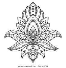 Mehndi lotus flower pattern for Henna drawing and tattoo. Decoration in ethnic o… Mehndi lotus flower pattern for Henna drawing and tattoo. Decoration in ethnic oriental, Indian style. Henna Tattoo Bilder, Henna Tattoo Muster, Henna Tattoo Designs, Mehndi Designs, Estilo Mehndi, Lotus Mandala, Colorful Mandala Tattoo, Lotus Henna, Henna Mandala