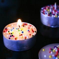 tea lights with sprinkles!