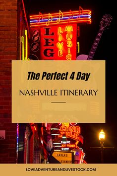 This perfect 4 day Nashville itinerary is an epic way to spend some time both in the city and the surrounding country. Take advantage! #Tennessee Nashville Downtown, Nashville Music, Nashville Tennessee, Beautiful Places In America, Beautiful Places To Travel, Best Places To Travel, Best Vacation Destinations, Packing List For Vacation, Vacation Trips