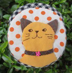 Handmade cat quilt applique fabric wallet pocket coin pouch purse mini bag #Handmade #coinpurse