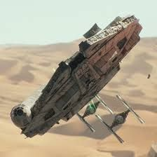Image result for millennium falcon on Jakku