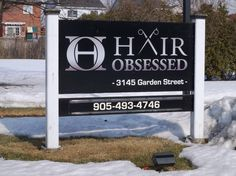 Hair Obsessed Whitby Post  and Panel Sign