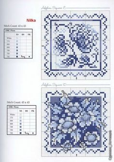 ru / Foto # 113 - Donna Kooler's Great Cross-Stitch Gifts - in Blue Biscornu Cross Stitch, Cross Stitch Love, Cross Stitch Cards, Cross Stitch Flowers, Counted Cross Stitch Patterns, Cross Stitch Designs, Cross Stitching, Cross Stitch Embroidery, Embroidery Patterns