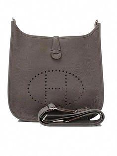 00c027512a47 Hermes Evelyn Gray Taurillion GM Chic Cross-Body Shoulder Bag  #Designerhandbags #Hermeshandbags Hermes