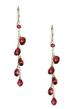 Faceted Garnet Dangling Earrings on HauteLook Cute Jewelry, Jewelry Crafts, Beaded Jewelry, Jewlery, Jewelry Box, Jewelry Making, Simple Earrings, Diy Earrings, Wire Board