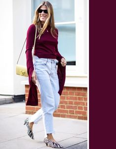The Most Flattering Colors to Wear With Every Denim Wash via @WhoWhatWearAU