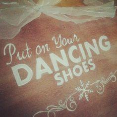 Wedding dancing shoes sign