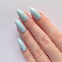 Pastel Blue Stiletto nails, Nail designs, Nail art, Nails, Stiletto nails, Acrylic nails, Pointy nails, Fake nails
