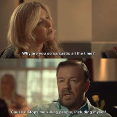 After Life - Episode 4 I Kill People, Funny People, Tv Show Quotes, Movie Quotes, Ricky Gervais Quotes, Afterlife Quotes, Moving Movie, Dynasty Tv Show, Netflix Quotes