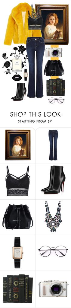 """Senza titolo #180"" by annak57 ❤ liked on Polyvore featuring Diane Von Furstenberg, Christian Louboutin, Ayala Bar, Chanel and PL8"