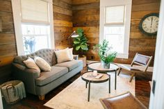 I thought this house was so beautiful because of the clean lines and the  brick accents. The front porch was a gorgeous addition and, this time,  Joanna left the shiplap in the living room original!  Hello, World !  Hello, World!  Hello, World!  Hello, Worl d!  Hello, World!  Images found here