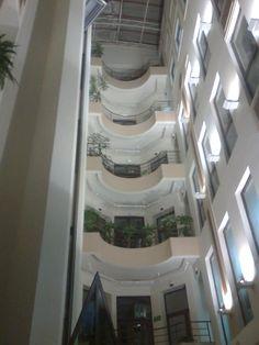 Inside Patio Hotel, Wrocław.