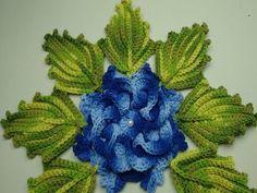 Folha de crochê para aplicação - por Croche Terapia Art - YouTube