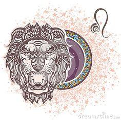 Lion zodiaque des symboles douze de signe de conception de dessin-modèles divers