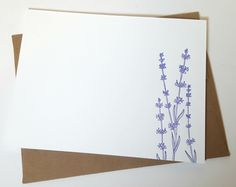 Idea Chic Lavender Letterpress Stationery