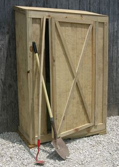 Want to build between the windows of the woodshop.  Instructions on http://extremehowto.com/build-a-garden-tool-shed/