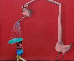 Eliska Podzimkova creates new worlds by adding illustrations to photos of New York