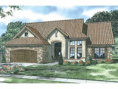 Eplans Mediterranean House Plan - The Lombardia - 2095 Square Feet and 3 Bedrooms(s) from Eplans - House Plan Code HWEPL13980