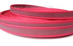 gummiertes Gurtband in Pink als Meterware