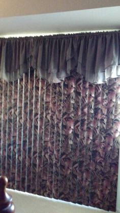 Wallpaper on vertical blinds