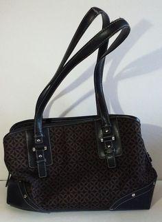 a7a2399a05 RELIC by Fossil Purse Shoulder Bag Handbag Black Brown Medium Size Satchel   Relic  ShoulderBag