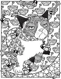 creative haven grumpy cat hates coloring coloring book dover publications - Grumpy Cat Coloring Pages