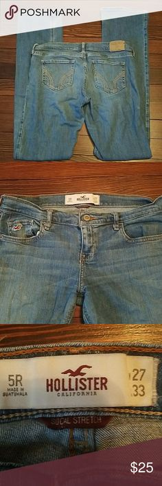 Hollister Bootcut Jeans 5R Light wash, some fading Hollister Jeans Boot Cut