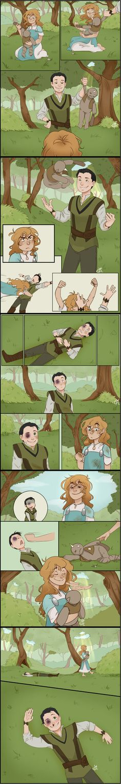 Loki; Once upon a time I met someone adorable. :D Little Sigyn and Loki