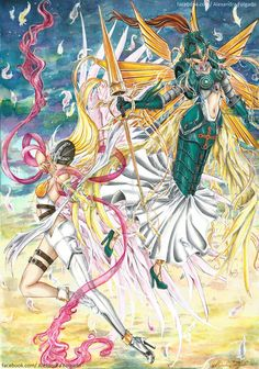 Digimon fan art - Angewomon and Ophanimon by Sweetbites91 on DeviantArt