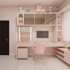 Love this desk but not the wall color. And how it fits with this room. - Love this desk but not the wall color. And how it fits with this room. Love this desk but not the wall color. And how it fits with this room. Cute Room Decor, Cute Bedroom Ideas, Girl Bedroom Designs, Girls Bedroom, Bedroom Decor, Baby Bedroom, Small Apartment Bedrooms, Small Apartment Decorating, Small Apartments