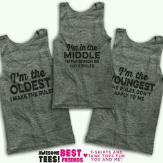 I need these & one more for my youngest!  What should it say!?