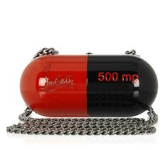 Christian Louboutin 20th Anniversary Pilule Pill-Shaped Plastic Clutch