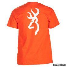 Orange and white Browning Buckmark Logo T Shirt