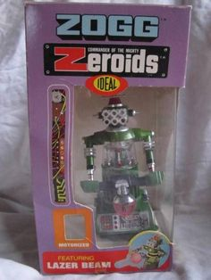 VINTAGE IDEAL ZEROID ZOGG COMMANDER ROBOT IN WINDOW SLEEVE BOX 1960'S SPACE TOY