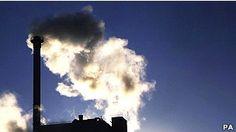 Gás carbônico é um dos principais agentes do aquecimento global (Foto: BBC)