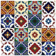 Adesivo Para Azulejo. Reinvente seu ambiente com os nossos adesivos. Ideal para decoração de cozinhas, banheiros, lavabos ou lavanderias Islamic Art Pattern, Arabic Pattern, Tile Art, Mosaic Tiles, Tile Patterns, Print Patterns, Mandala Art Lesson, Doodle Art Drawing, Wallpaper Stickers