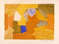 Serge Poliakoff - Composition jaune-orange-verte