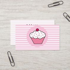 Shop cupcake shop business Cards created by MG_BusinessCards. Elegant Cupcakes, Sweet Cupcakes, Love Cupcakes, Bakery Business Cards, Business Gifts, Business Card Design, Cupcake Shops, Cupcake Bakery, Zebra Print Cupcakes