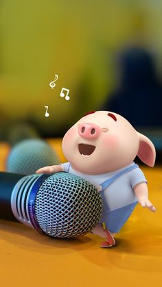 Pig Wallpaper, Funny Phone Wallpaper, Cute Disney Wallpaper, Cute Cartoon Wallpapers, This Little Piggy, Little Pigs, Happy Birthday Pig, Cute Rabbit Images, Blue Butterfly Wallpaper