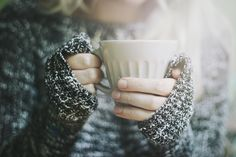 fall fashion // cozy sweaters // hot coffee