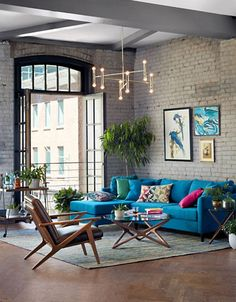 25 Most Stylish Industrial Living Room Ideas with Unique Decor Home Interior Design, House Design, Decor, Interior Design, House Interior, Home, Interior, Industrial Livingroom, Colourful Living Room